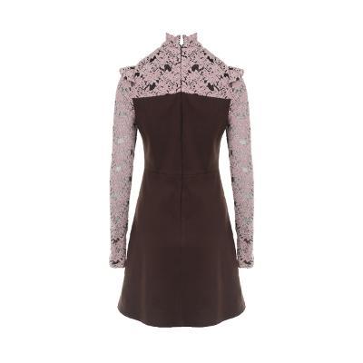 lace detail flare dress multi